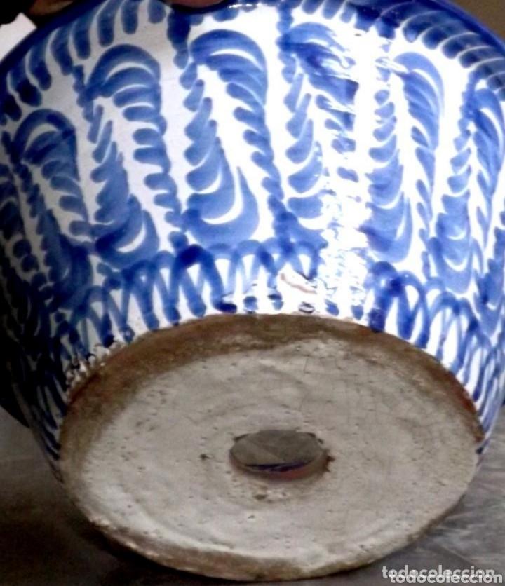 Antigüedades: HERMOSO LEBRILLO ANTIGUO DE FAJALAUZA // GRANADINA // CONVERTIDO A MANO EN LAVABO POR UN ARTESANO - Foto 7 - 182739035