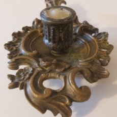 Antigüedades: POTAVELAS PALMATORIA BRONCE. Lote 182747346