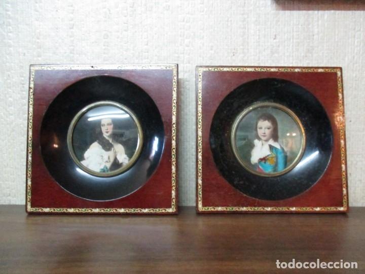 Antigüedades: dos marcos madera pequeños - Foto 3 - 182750768