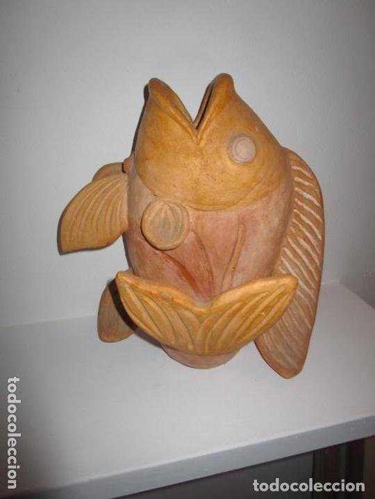 Antigüedades: jarrón de cerámica pez - Foto 7 - 182754962
