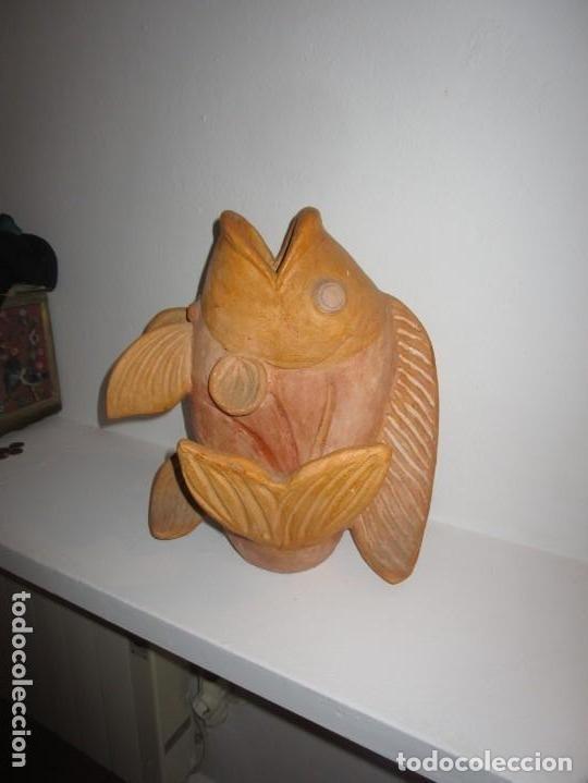 Antigüedades: jarrón de cerámica pez - Foto 2 - 182754962