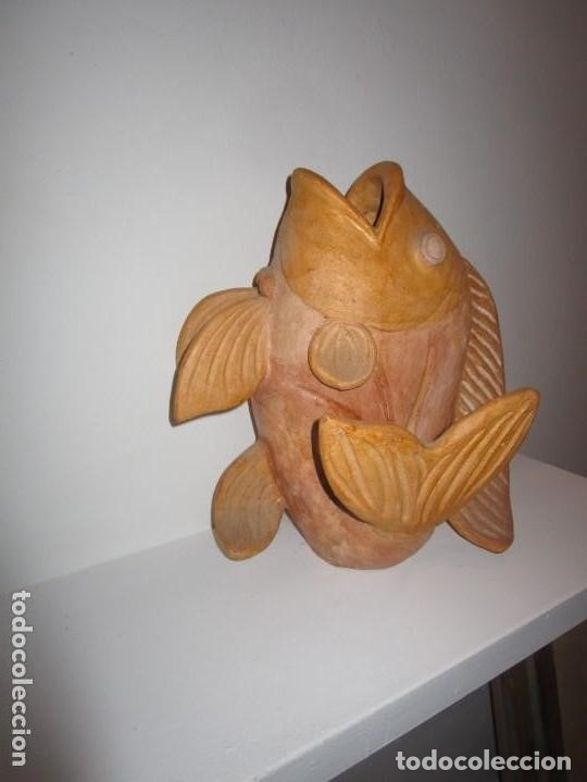 Antigüedades: jarrón de cerámica pez - Foto 3 - 182754962