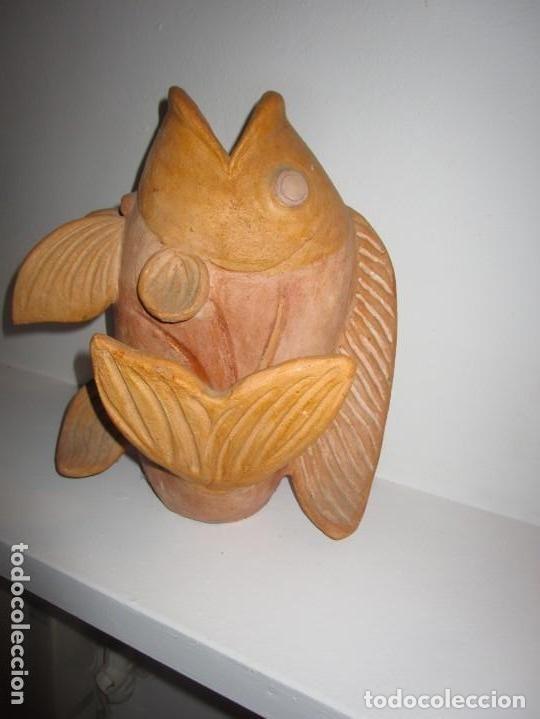 Antigüedades: jarrón de cerámica pez - Foto 4 - 182754962