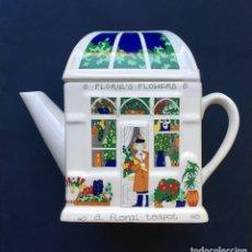 Antigüedades: TETERA INGLESA DE PORCELANA INVERNADERO BARRY SMITH & BARBARA WOOTON. Lote 182760603