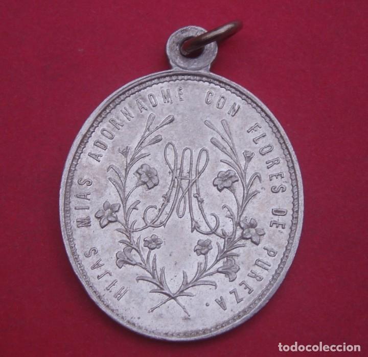 Antigüedades: Medalla Antigua Cuba Virgen de la Asunción de Guanabacoa. - Foto 2 - 182764902