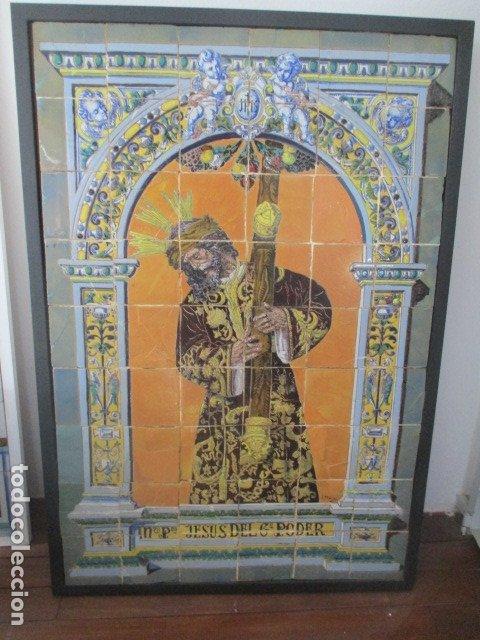RETABLO CERAMICO AZULEJOS (GRAN PODER) JOSE MACIAS (Antigüedades - Porcelanas y Cerámicas - Azulejos)