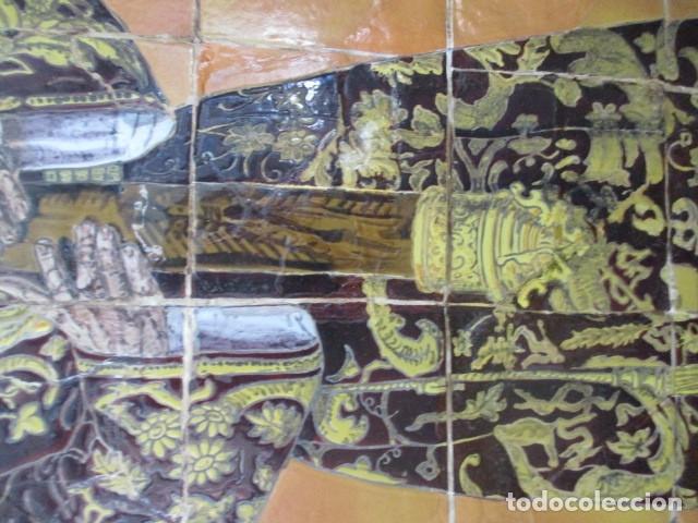 Antigüedades: retablo ceramico azulejos (Gran Poder) Jose Macias - Foto 3 - 182766520