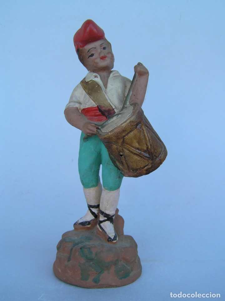 Antigüedades: El tamboriler del Bruc.Figura de estuco policromado. - Foto 2 - 182768080