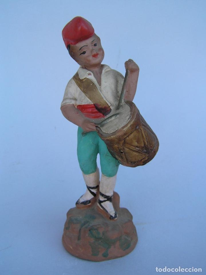 Antigüedades: El tamboriler del Bruc.Figura de estuco policromado. - Foto 3 - 182768080