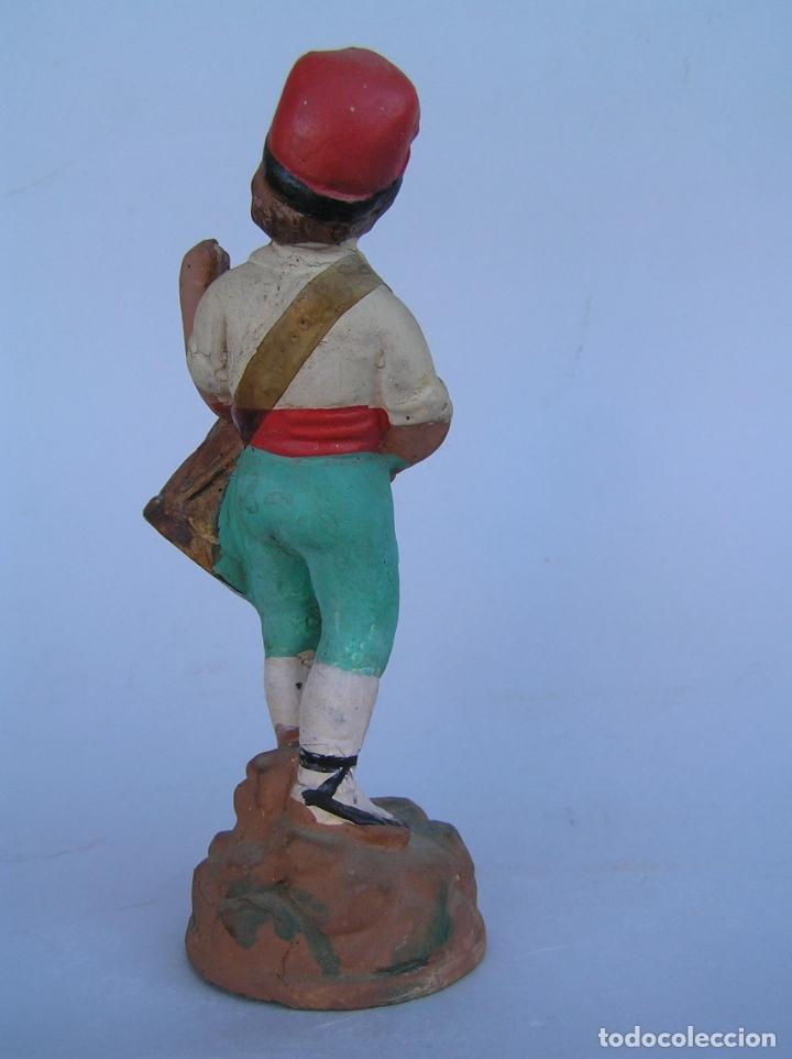 Antigüedades: El tamboriler del Bruc.Figura de estuco policromado. - Foto 6 - 182768080