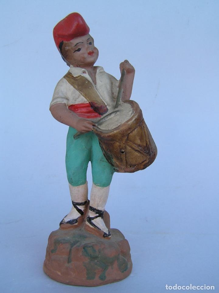 Antigüedades: El tamboriler del Bruc.Figura de estuco policromado. - Foto 8 - 182768080