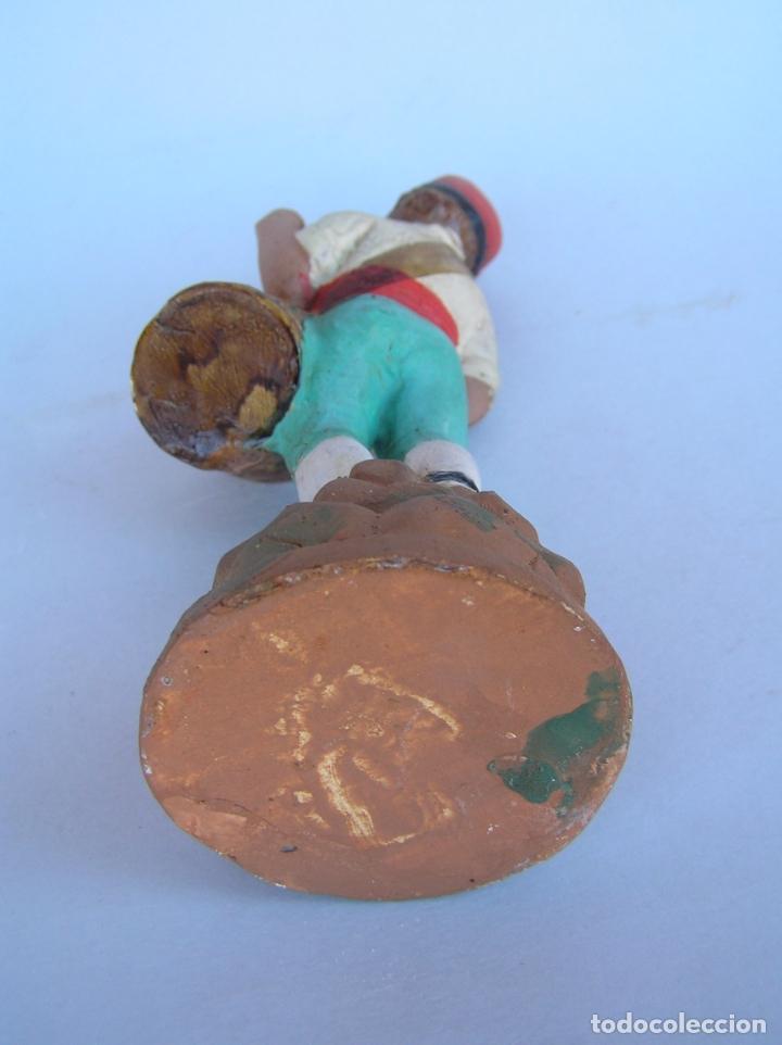 Antigüedades: El tamboriler del Bruc.Figura de estuco policromado. - Foto 11 - 182768080