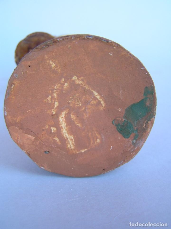 Antigüedades: El tamboriler del Bruc.Figura de estuco policromado. - Foto 12 - 182768080