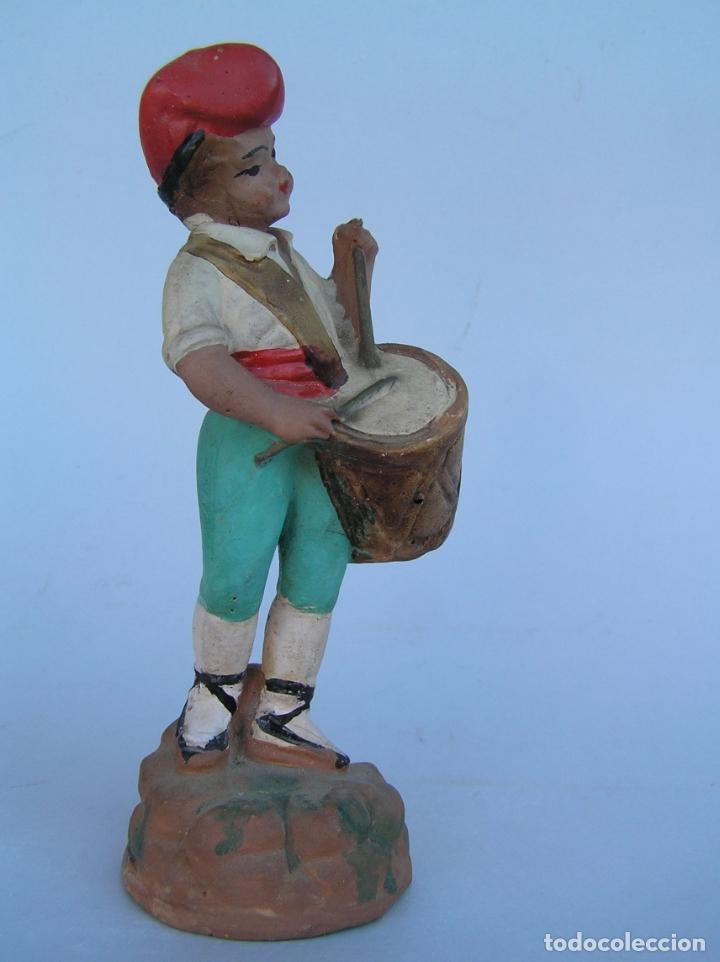 EL TAMBORILER DEL BRUC.FIGURA DE ESTUCO POLICROMADO. (Antigüedades - Hogar y Decoración - Figuras Antiguas)