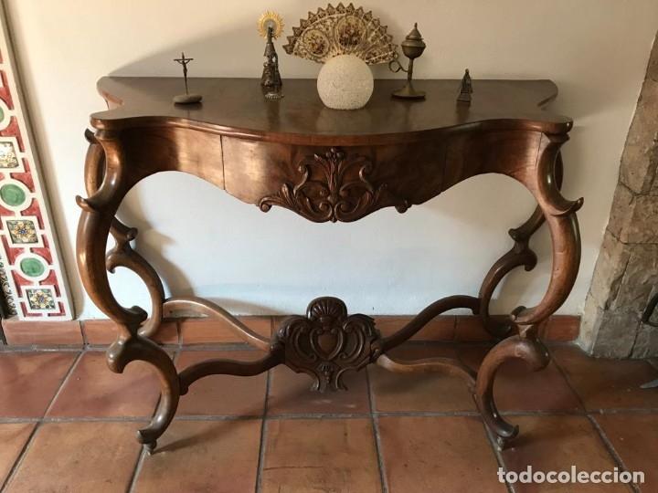 CONSOLA ISABELINA (Antigüedades - Muebles Antiguos - Consolas Antiguas)