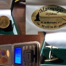 Antigüedades: PRECIOSOS GEMEMOS ORO 18 K MONEDA ALFONSO XIII ORFEBRERIA. Lote 182774730
