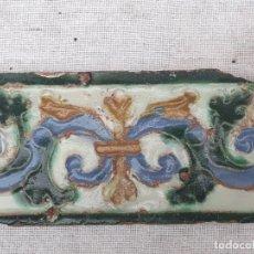 Antigüedades: AZULEJO ANTIGUO DE TOLEDO - ARISTA - RENACIMIENTO - SIGLO XVI.. Lote 182782783