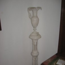 Antigüedades: CLOLUMNA DE ALABASTRO. Lote 182784341