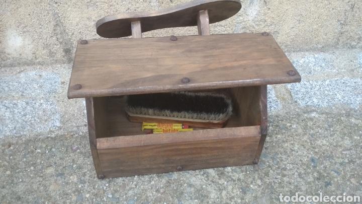 Antigüedades: Caja limpia zapatos. - Foto 2 - 182785020