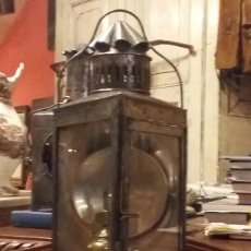 Antigüedades: RARO FAROL FERROVIARIO ANTIGUO TRIANGULAR. Lote 182786083