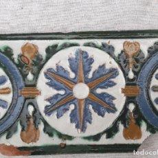 Antigüedades: AZULEJO ANTIGUO DE TOLEDO - ARISTA - RENACIMIENTO - SIGLO XVI.. Lote 182787075