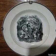 Antigüedades: PLATO ROMÁNTICO. PIEZA RARA.. Lote 182798187
