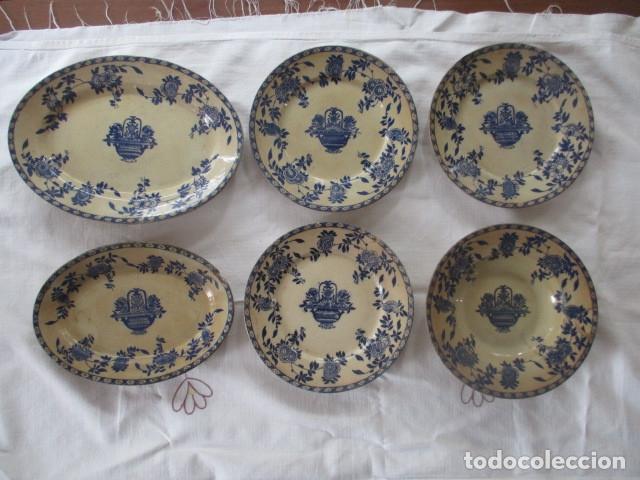 CERAMICA SAN JUAN SIGLO XIX SERIE INDIA (Antigüedades - Porcelanas y Cerámicas - San Juan de Aznalfarache)
