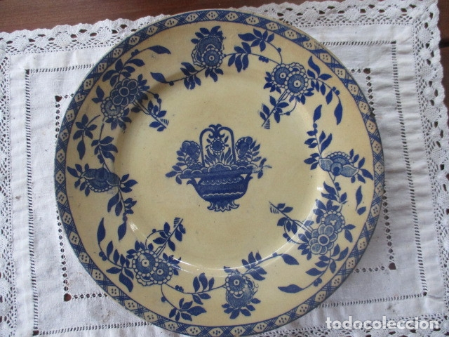 Antigüedades: Ceramica San Juan siglo XIX serie India - Foto 13 - 182798578