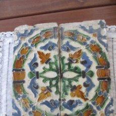 Antigüedades: PAREJA DE AZULEJOS SIGLO XVI (TRIANA). Lote 182798930