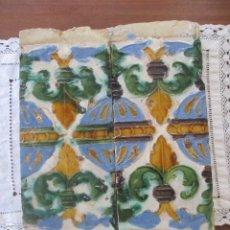 Antigüedades: PAREJA DE AZULEJOS SIGLO XVI (TRIANA). Lote 182799141
