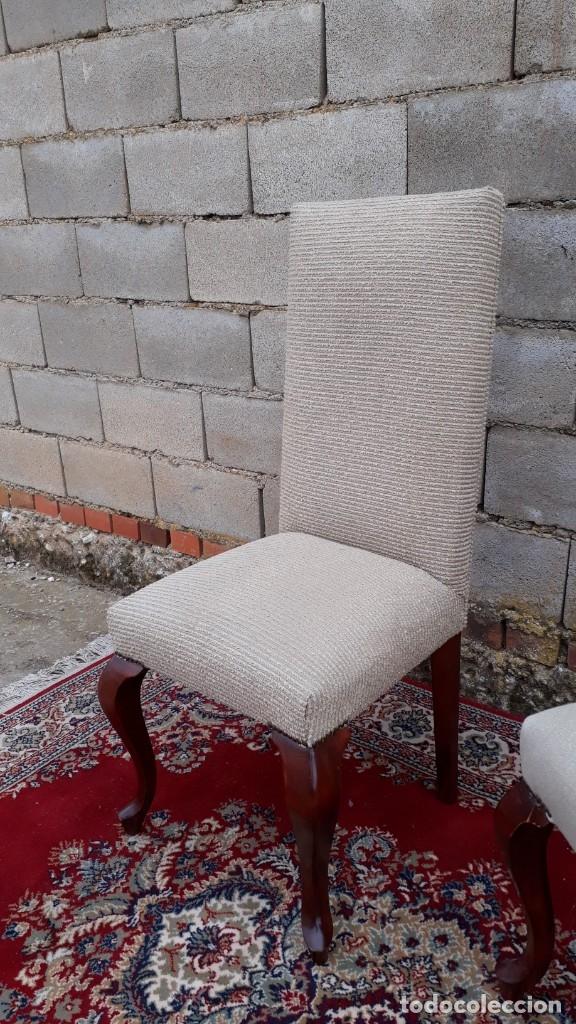 Antigüedades: 2 dos sillas antiguas respaldo alto. Silla antigua respaldo alto. Silla antigua vintage. - Foto 6 - 182814216
