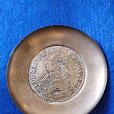 Antigüedades: PLATO TIPO PETITORIO EN BRONCE. EFIGIE DE MONARCA FRANCES. PLATO MONEDA.. Lote 182846067