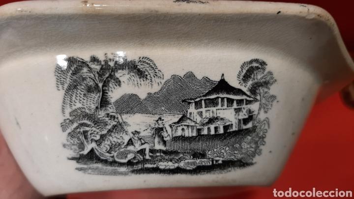 Antigüedades: ANTIGUA FUENTE OCHAVADA DE CARTAGENA, VALARINO. ESCENA DE CAZA. - Foto 7 - 182848497