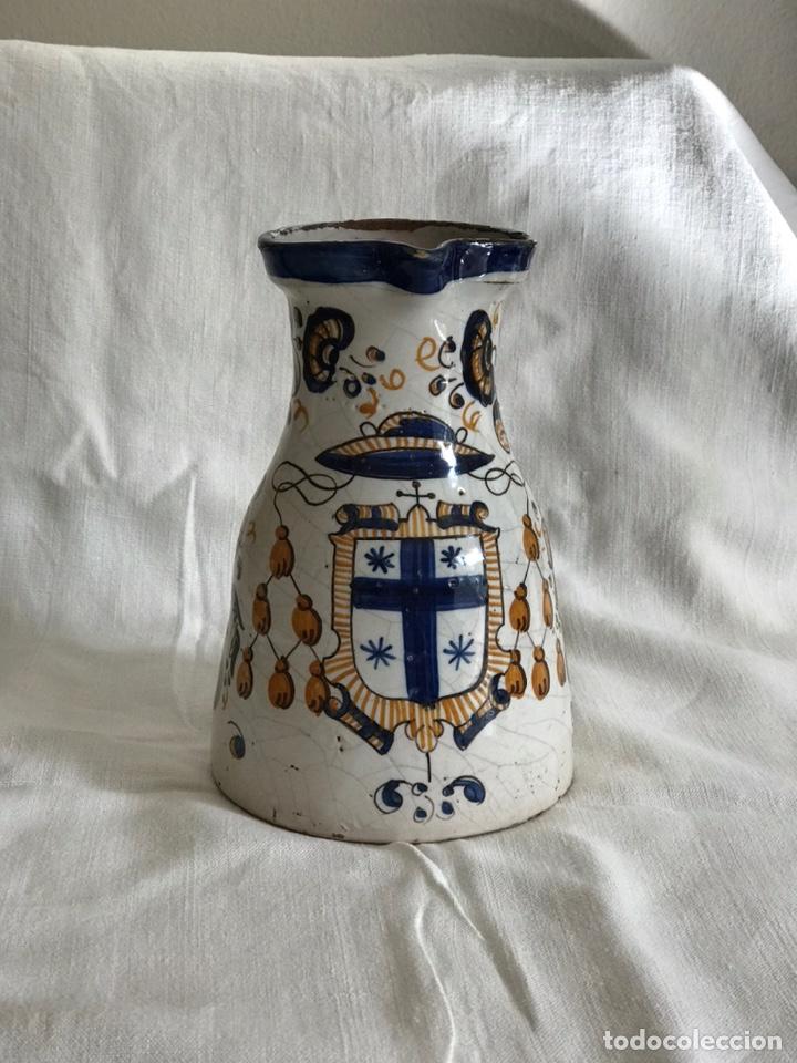 JARRA TALAVERA TRICOLOR S.XX (Antigüedades - Porcelanas y Cerámicas - Talavera)