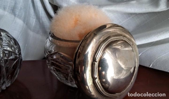 Antigüedades: Juego de plata para tocador. Mediados de S XX. 6 piezas - Foto 4 - 182856675
