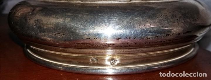 Antigüedades: Juego de plata para tocador. Mediados de S XX. 6 piezas - Foto 5 - 182856675