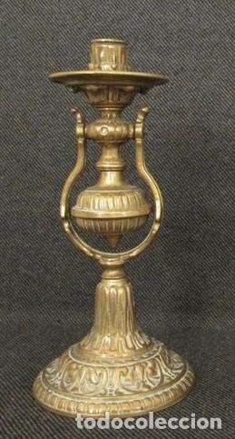 CANDELABRO PARED MESA - BRONCE (Antigüedades - Iluminación - Candelabros Antiguos)