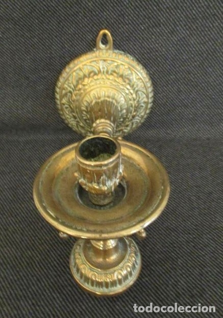 Antigüedades: Candelabro pared mesa - bronce - Foto 2 - 182858386