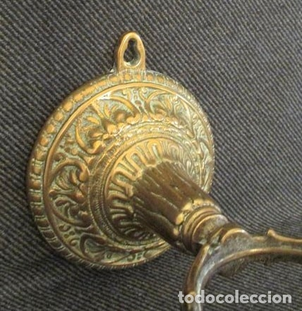 Antigüedades: Candelabro pared mesa - bronce - Foto 4 - 182858386