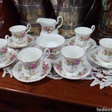 Antigüedades: JUEGO DE CAFE ROYAL ALBERT, MODELO MOSS ROSES. Lote 182759520