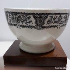Antigüedades: TAZÓN O ESCUDILLA DE LOZA. Lote 182879253