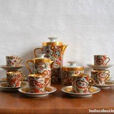 Antigüedades: JUEGO DE CAFÉ LIMOGES * 8 TAZAS + 8 PLATOS + CAFETERA + LECHERA + AZUCARERO *. Lote 182880913