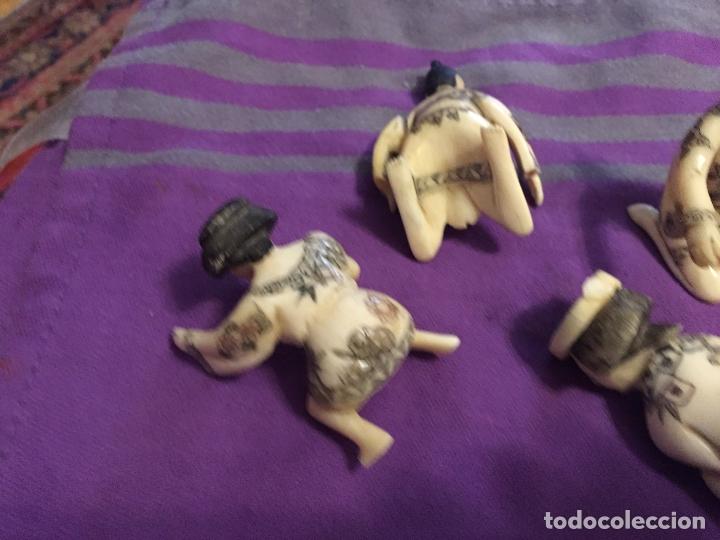Antigüedades: FIGURAS DE KAMASUTRA DE HUESO - Foto 8 - 182890301