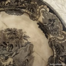 Antigüedades: ANTIGUO PLATO DE CARTAGENA, SERIE LA CAZA DEL CABALLO. Lote 182913830