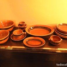 Antigüedades: JUEGO PORCELANA SAN CLAUDIO VALDEMORA - AÑOS 70. Lote 182914090