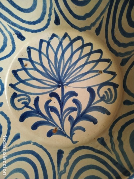 Antigüedades: Plato cerámica Granada Fajalauza. con decoracion floral - Foto 2 - 182916061