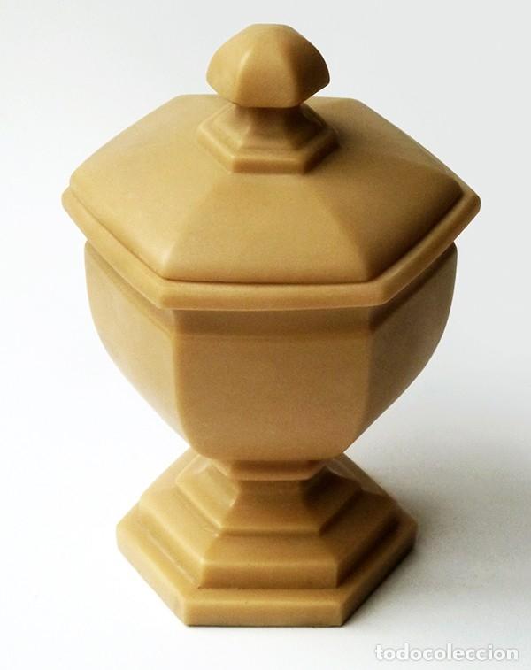 ANTIGUA BOMBONERA COPA DE MARMOLINA DISEÑO CLÁSICO MARCA IMPERIO VALENCIA ESPAÑA VINTAGE AÑOS 70 (Antigüedades - Hogar y Decoración - Copas Antiguas)