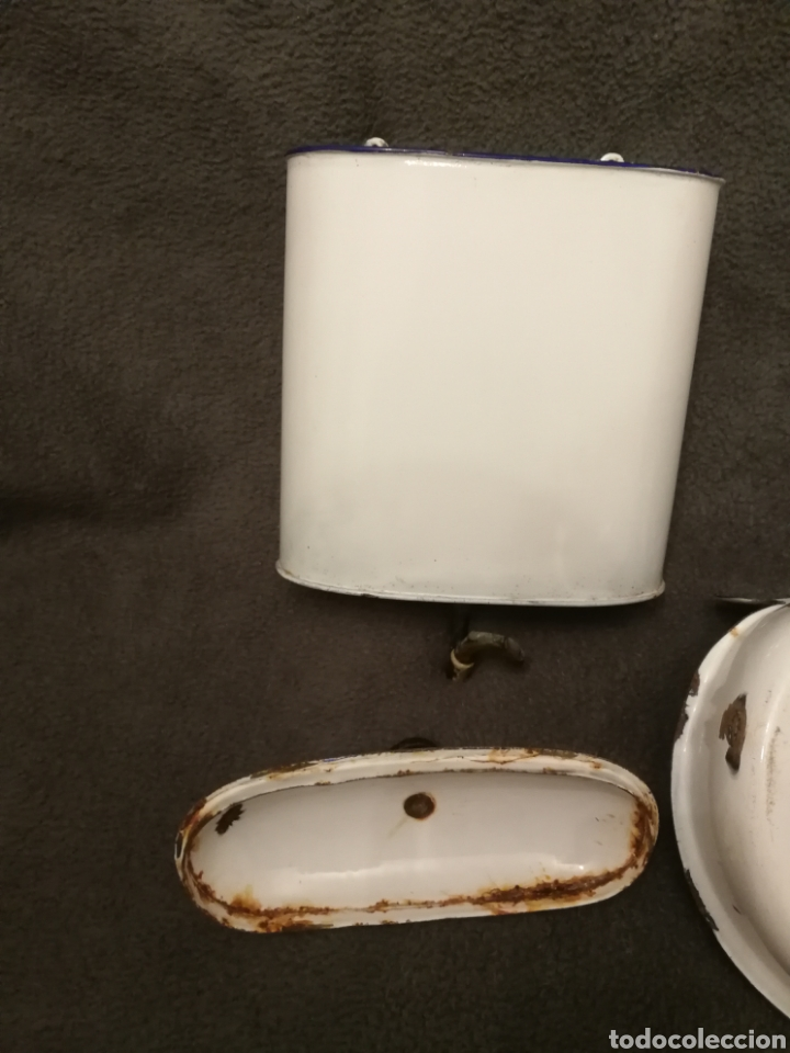 Antigüedades: Lavabo muy antiguo de chapa esmaltada - Foto 3 - 182959667