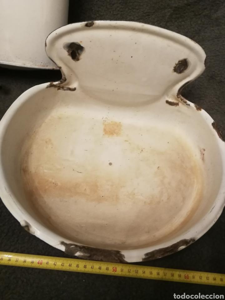 Antigüedades: Lavabo muy antiguo de chapa esmaltada - Foto 7 - 182959667