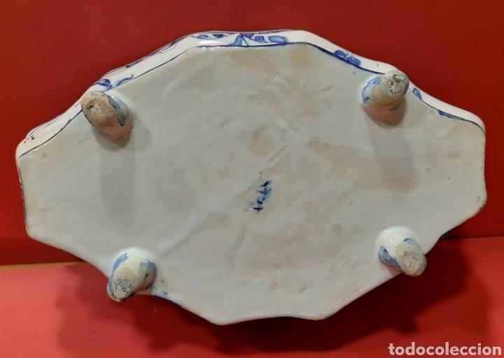 Antigüedades: GRAN SOPERA CON PLATO PRESENTADOR. FAITANAR, SIGUIENDO MODELOS DE ALCORA. - Foto 6 - 182962322
